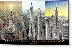 Classic Skyscrapers Of America 20130428 Acrylic Print by Wingsdomain Art and Photography