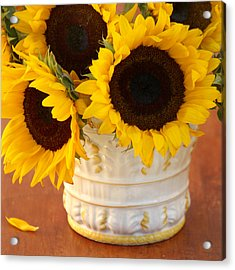 Classic Sunflowers Acrylic Print by Art Block Collections