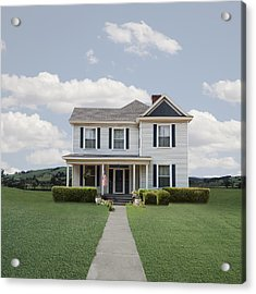 Classic Turn Of The Century American  House Acrylic Print by Ed Freeman