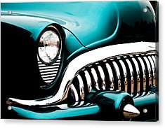 Classic Turquoise Buick Acrylic Print by Joann Copeland-Paul