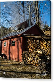 Classic Vermont Maple Sugar Shack Acrylic Print by Edward Fielding
