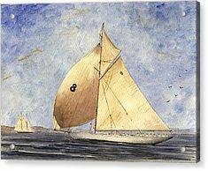 Classic Yacht Barcelona Acrylic Print