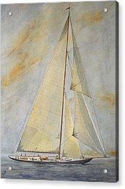 Classic Yacht Acrylic Print