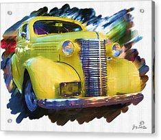 Classic Yellow Car  Acrylic Print