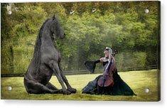 Classical Baroque Acrylic Print by Fran J Scott