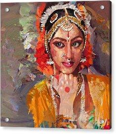Classical Dance Art 1 Acrylic Print by Maryam Mughal