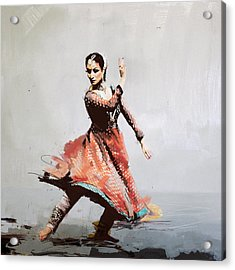 Classical Dance Art 11 Acrylic Print by Maryam Mughal