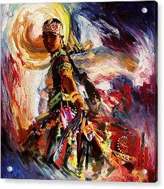 Classical Dance Art 13 Acrylic Print by Maryam Mughal