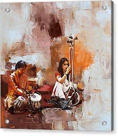 Classical Dance Art 17 Acrylic Print by Maryam Mughal