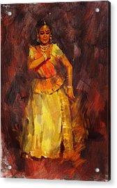 Classical Dance Art 18 Acrylic Print by Maryam Mughal
