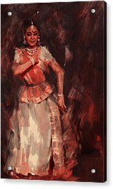 Classical Dance Art 18b Acrylic Print by Maryam Mughal