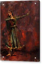Classical Dance Art 7 Acrylic Print by Maryam Mughal