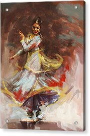 Classical Dance Art 8 Acrylic Print by Maryam Mughal