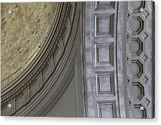 Classical Dome And Vault Details Acrylic Print by Lynn Palmer