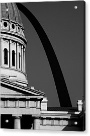 Classical Dome Arch Silhouette Black White Acrylic Print