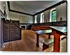 Acrylic Print featuring the photograph Classroom Wren Building by Jerry Gammon
