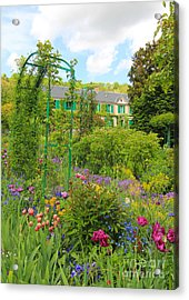 Claude Monet House And Garden At Giverny Acrylic Print by Heidi Hermes