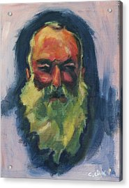 Claude Monet Self Portrait Acrylic Print
