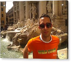 Claudio In Rome Acrylic Print by Ted Williams