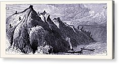 Clay Cliffs On The Shore Of Lake Michigan United States Acrylic Print by American School