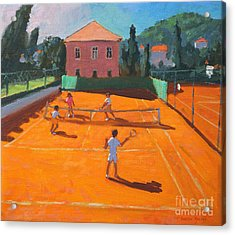 Clay Court Tennis Acrylic Print by Andrew Macara