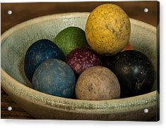 Clay Marbles In Bowl Acrylic Print
