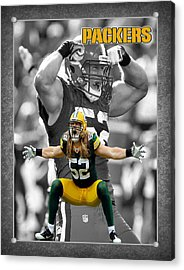 Clay Matthews Packers Acrylic Print