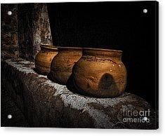 Clay Pots  ... Acrylic Print by Chuck Caramella