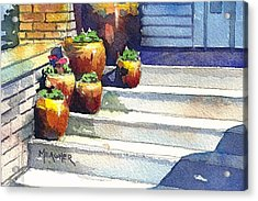 Clay Pots Acrylic Print by Spencer Meagher