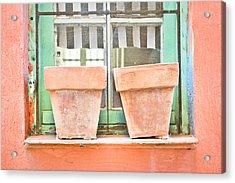 Clay Pots Acrylic Print by Tom Gowanlock