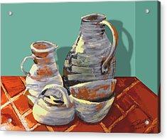 Clay Pottery Acrylic Print by Matthew Schwartz
