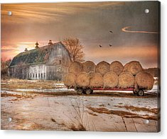 Clayton Sunset Acrylic Print by Lori Deiter