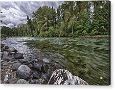 Cle Elum River Acrylic Print