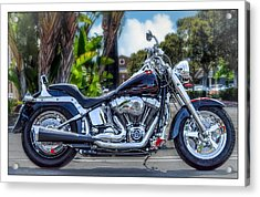 Acrylic Print featuring the photograph Clean Looking Harley by Steve Benefiel