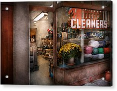 Cleaner - Ny - Chelsea - The Cleaners Acrylic Print by Mike Savad