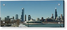 Clear Cold Chicago Day Acrylic Print by Teresa Schomig