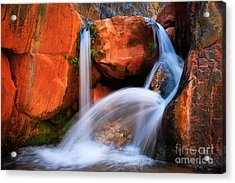 Clear Creek Falls Acrylic Print by Inge Johnsson