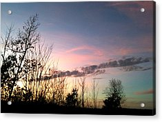 Acrylic Print featuring the photograph Clear Evening Sky by Linda Bailey