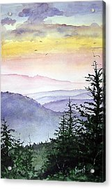 Clear Mountain Morning II Acrylic Print by Sam Sidders