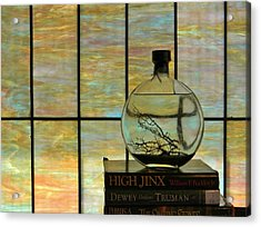 Clear On Color Acrylic Print by Jean Goodwin Brooks