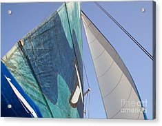 Clear Skies And Full Sails Acrylic Print by Jennifer Apffel