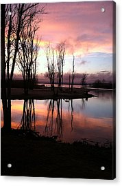 Clearing On The River Acrylic Print
