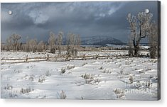 Clearing Storm In The Tetons Acrylic Print by Sandra Bronstein