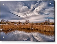 Clearing Storm Reflected Acrylic Print by Cat Connor