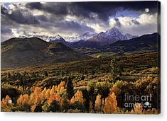 Clearing Storm The Sneffels Range Acrylic Print