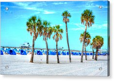Clearwater Beach Acrylic Print by Debbi Granruth