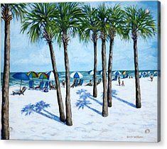 Acrylic Print featuring the painting Clearwater Beach Morning by Penny Birch-Williams