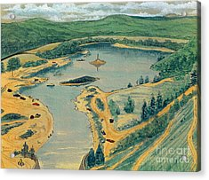 Acrylic Print featuring the painting Clearwater Lake Early Days by Kip DeVore