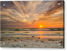 Clearwater Sunset Acrylic Print by Mike Ste Marie