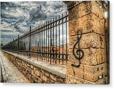 Acrylic Print featuring the photograph Clef At Hadrian's Library by Micah Goff